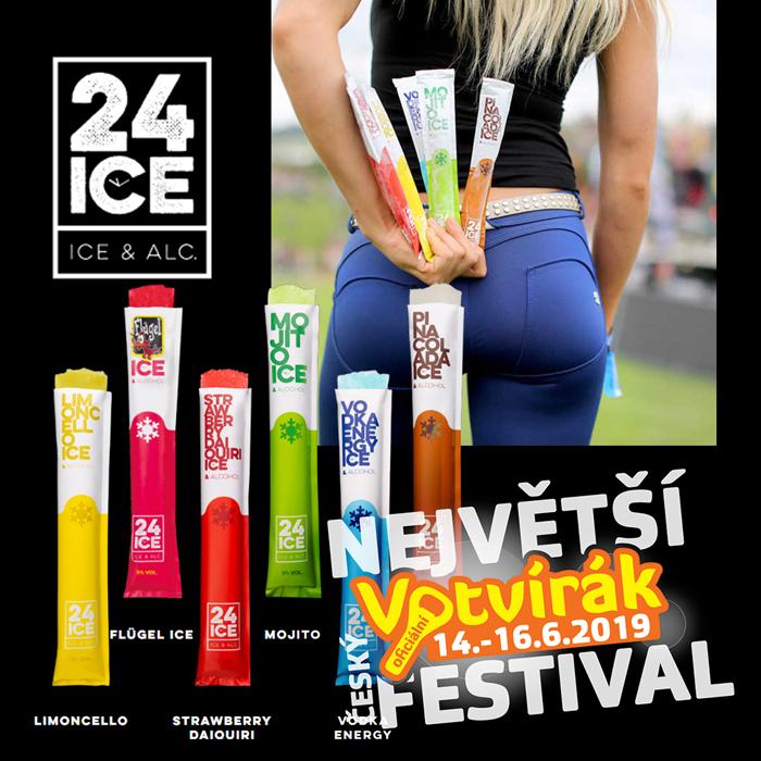 osvěžení na festivalu Votvírák 24ICE alkoholická zmrzlina