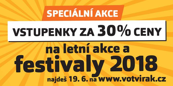 Vstupenky za 30% ceny na festivaly a akce