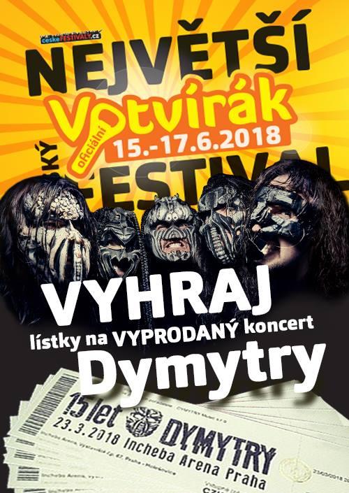 Dymytry - soutěž o vstupenky 23.3.2018 - Votvírák 2018