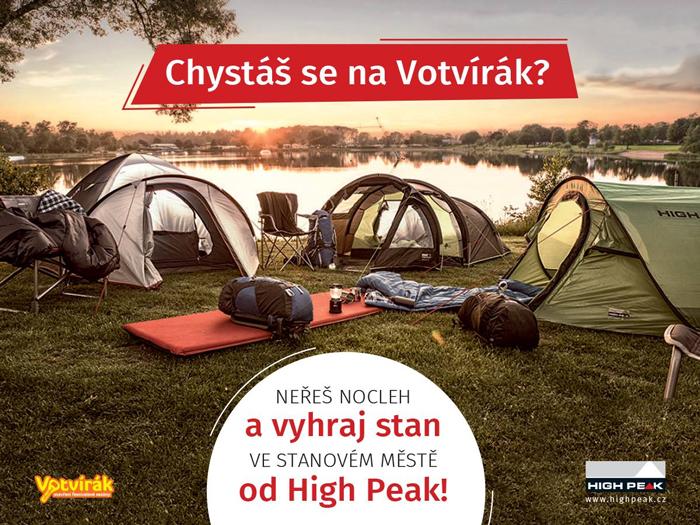Soutěž! Vyhraj stan ve stanovém městě od High Peak na Votvíráku