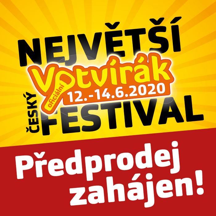 Předprodej festivalu Votvírák 2020