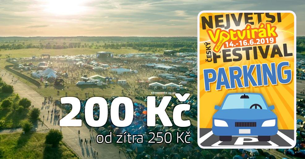 Parkovací karta Votvírák - poslední možnost za 200 Kč