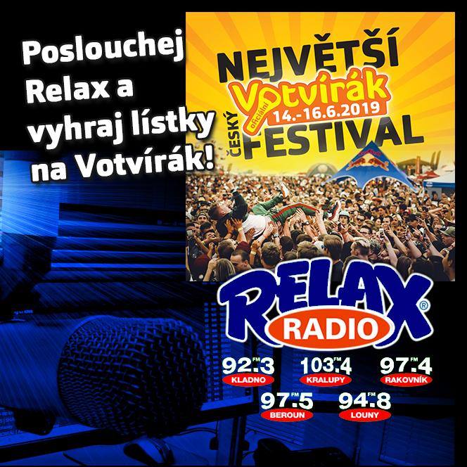 rádio Relax soutěž o vstupenky na Votvírák zdarma