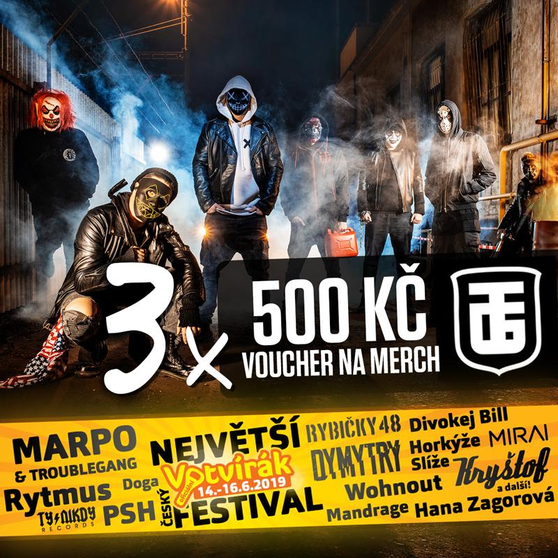 Marpo & TroubleGang Votvírák 2019 soutěž o merch 500 Kč