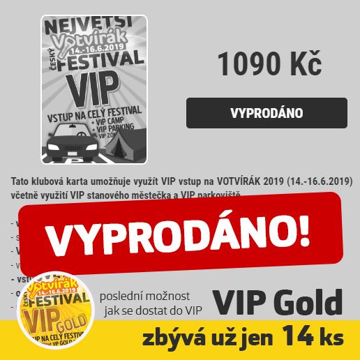 Votvírák VIP - hlasíme Vyprodáno!